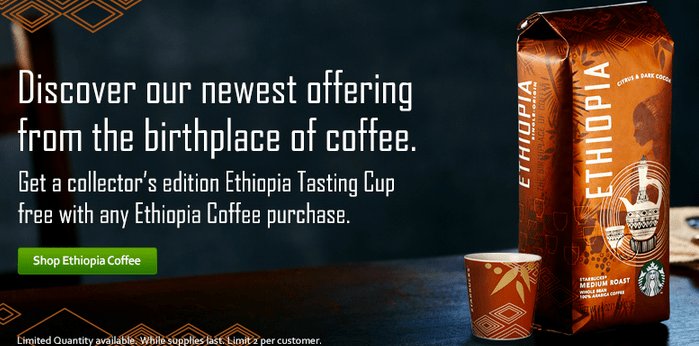 FREE Ethiopia Tasting Cup Offer