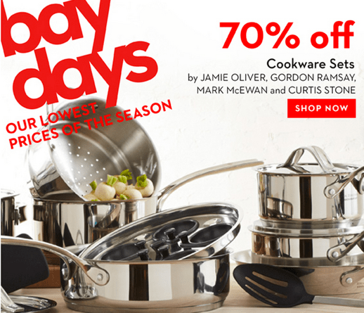 Hudson's Bay Sale on Cookware