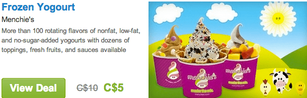 Menchie's Deal