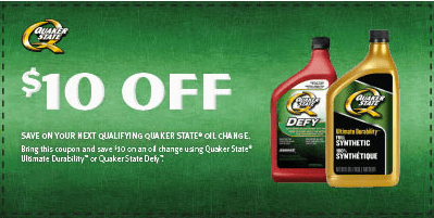 Quaker State Canada Printable Coupon