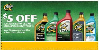 Quaker State Canada Printable Coupons