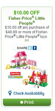 picture relating to Fisher Price Printable Coupons identify Canadian Discount coupons: Help save $10 upon Fisher Cost Minimal People in america