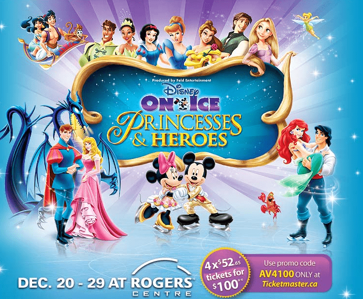 coupon code for disney on ice princesses and heroes