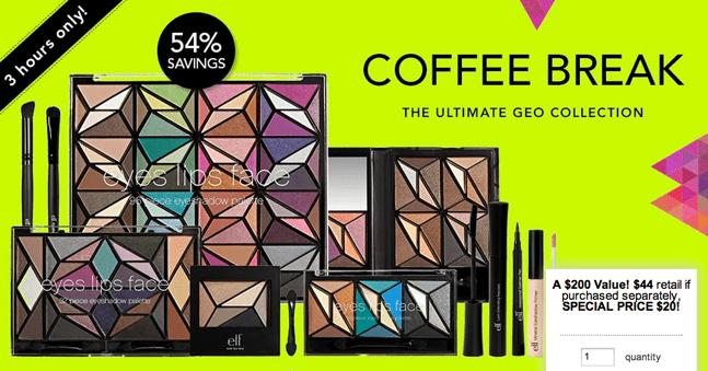 e.l.f. Cosmetics Coffee Break Offers