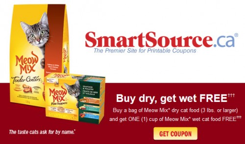 photograph regarding Meow Mix Coupon Printable named Meow merge dry cat foodstuff discount codes : Cover parking denver