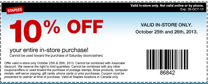 Staples canada coupons 2018 september