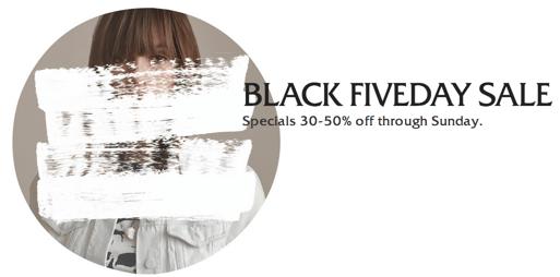 Aritzia Canada Black Fiveday Sale