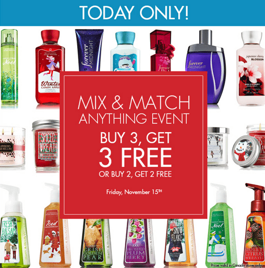 Bath & Body Works Canada offer