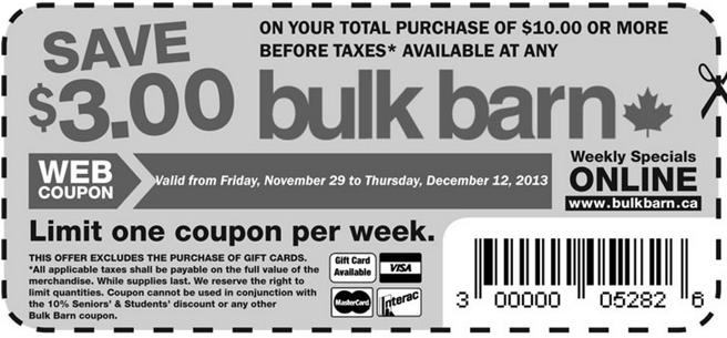 Bulk Barn – Coupon Savings