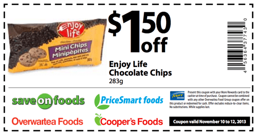 Enjoy Life Chocolate Chips offer