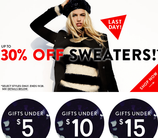 Forever 21 black friday coupons