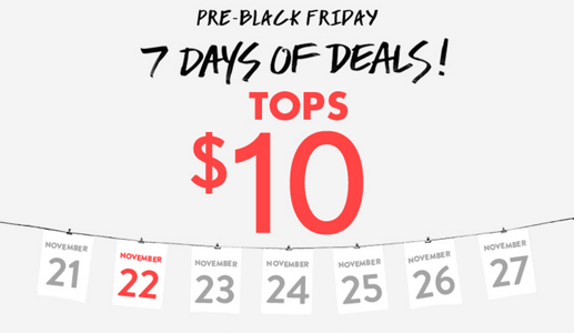 Forever 21 Canada Pre-Black Friday 2013, 7 Days of Deals: Today's ...