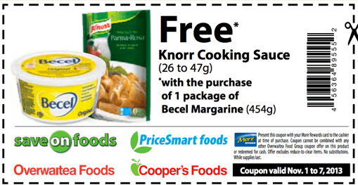 Free Knorr Cooking Sauce