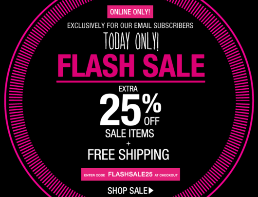 Garage Canada Flash Sale