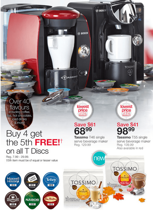 Home Outfitters Canada Deals: Tassimo T46 For USD 68.99 (Save USD 61), Tassimo T55 For USD 98.99 (Save ...