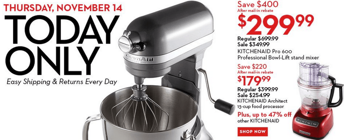 Hudson's BayKitchenAid offer