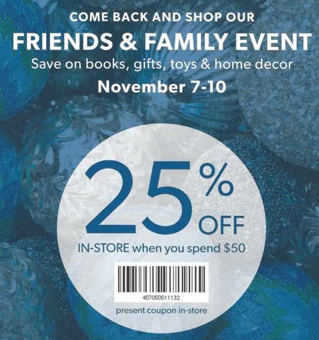 5760c6f249b1 Indigo Chapters & Coles Friends & Family Sale In-Store (& Possibly Online)