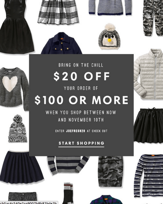 Joe Fresh Canada Coupons