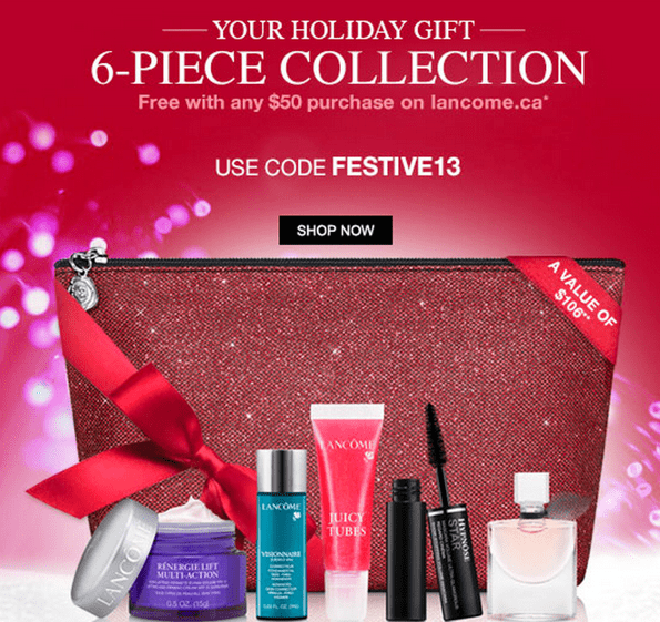 Lancôme Canada Gift with Coupon Codes