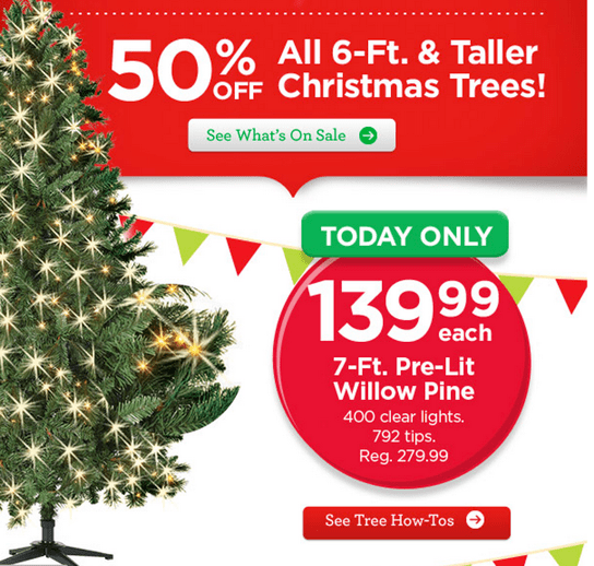 Michaels Canada Annual Christmas Trees Event Save 50 On
