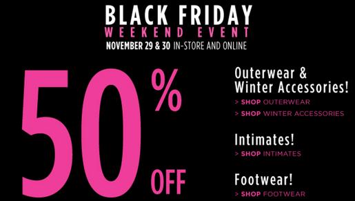 Penningtons Canada Black Friday Sale