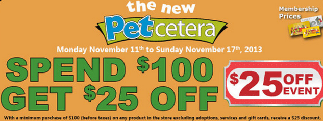 Petcetera  offer