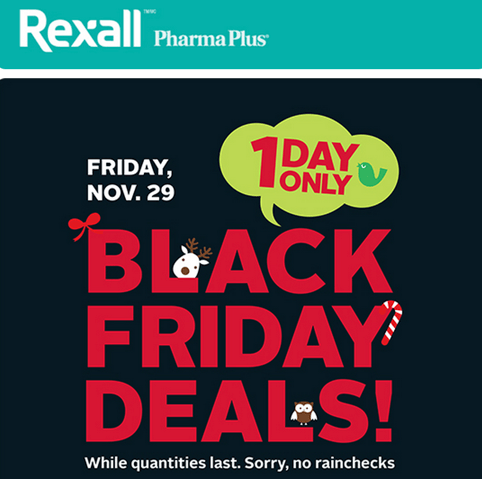 Rexall Drugstore Canada Black Friday Deals