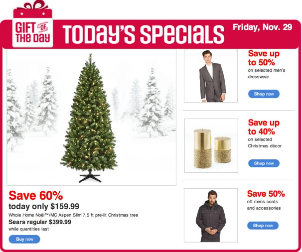 Sears Canada Black Friday 2013 Sales