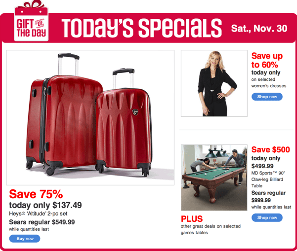Sears Canada Black Friday Sales and deals