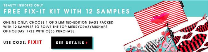 Sephora online coupon code canada