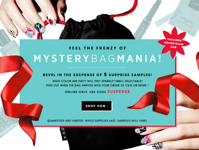 Sephora Coupon Codes: Receive a Mystery Sample Bag Including 5 ...