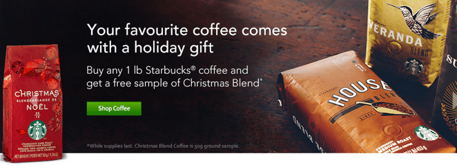 Starbucks Store Canada Offers