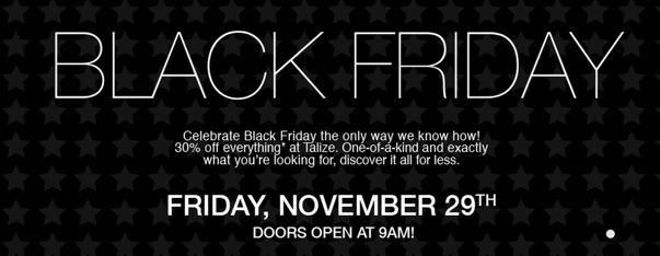 Talize Canada Black Friday Sale