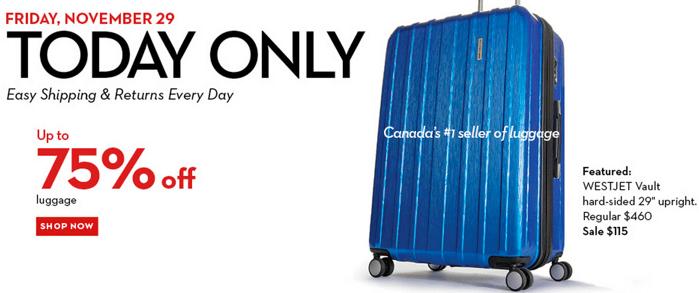 The Bay Black Friday Luggage Sale