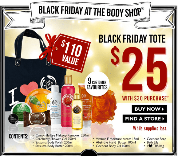 The Body Shop Black Friday 2013