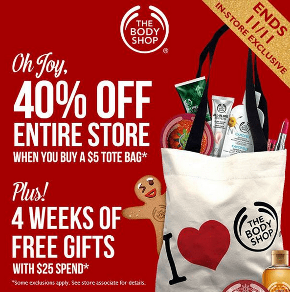Active The Body Shop Vouchers & Discount Codes for December 2018