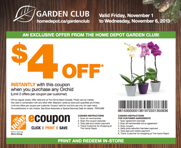 The Home Depot Canada Garden Club Save 4 On Any Orchid