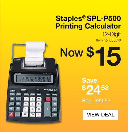 Staplesca Daily Deal Staples Printing Calculator For 15