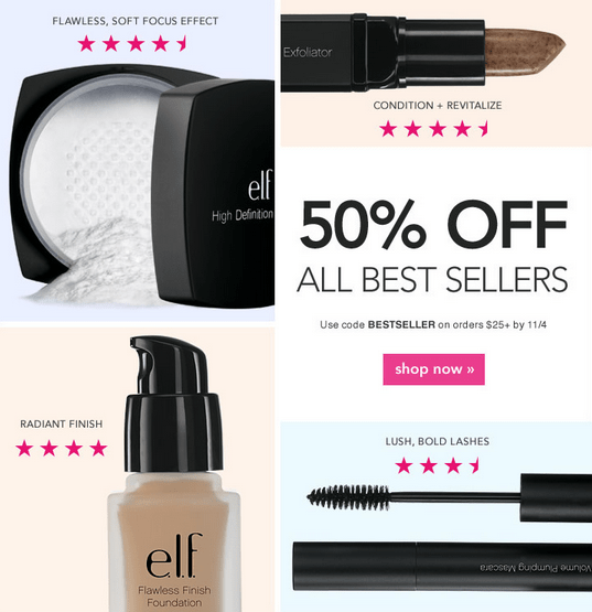 Elf cosmetics coupon code