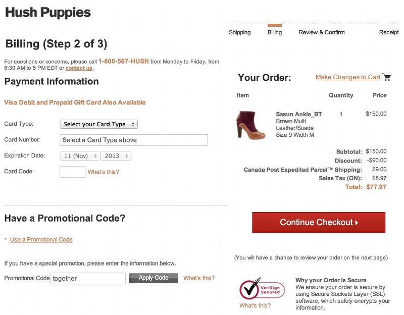 hush puppies canada coupon