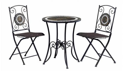 Walmart Ca Slate Bistro Set 40 Table Amp Two Chairs