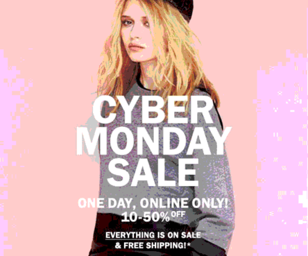 Aritzia Canada Cyber Monday 2013 Sales