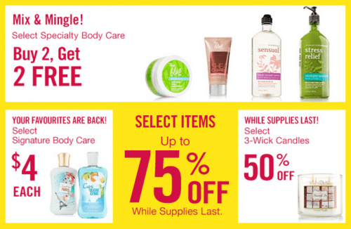 Bath & Body Works Canada Boxing Day Sale