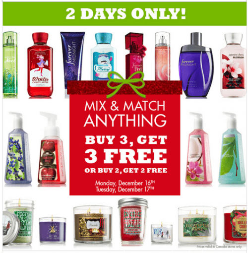 Bath & Body Works Canada Mix and Match Offer z1387212637-small