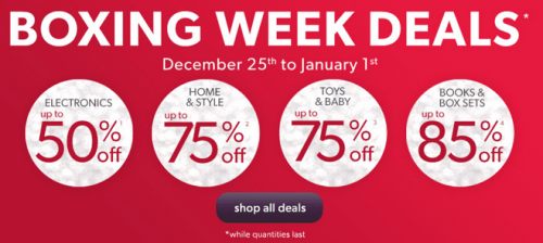 Chapters Indigo Boxing Week Deals