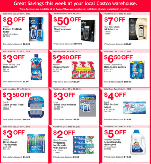 Costco Canada East Coupons
