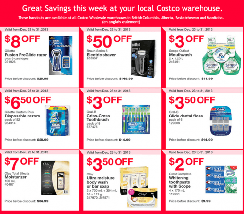 Costco warehouse Coupon for West Canada