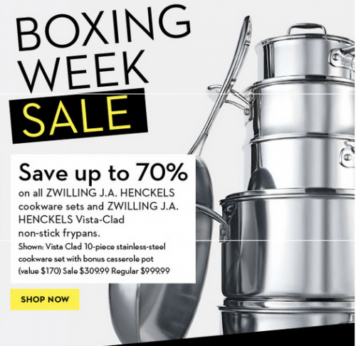 Hudson S Bay Canada Boxing Day Sale Save Up To 70 On