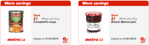 Metro Ontario Printable coupons now