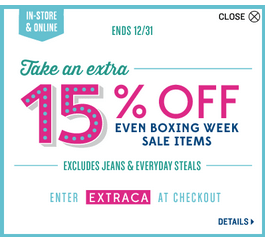 Old Navy Canada Boxing Week